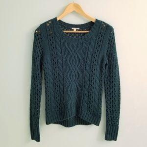 Nordstrom Halogen Open Knit Teal Sweater
